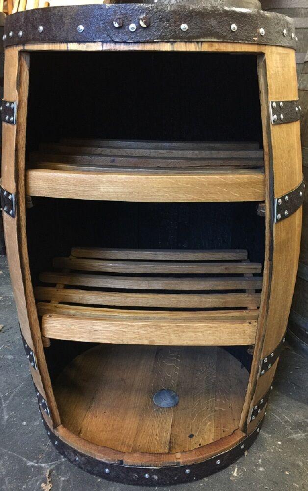 En bois massif vintage chêne whisky Barrel  corkess  VITRINE VINTAGE