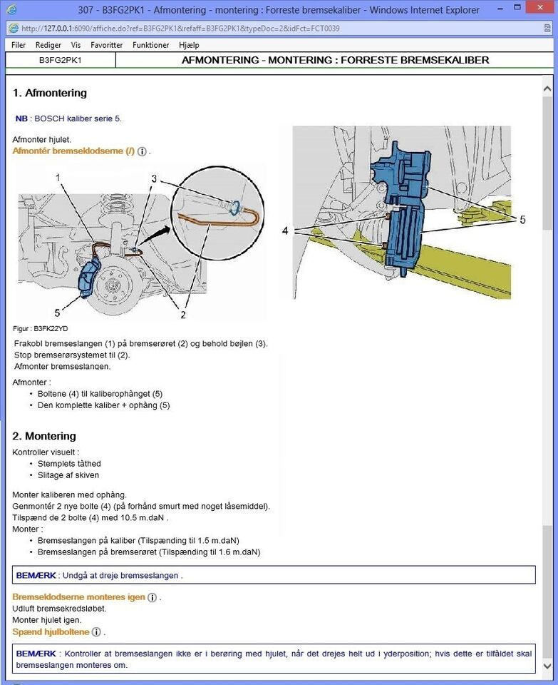 Peugeot, Raparations Service Manual