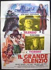 MANIFESTO POSTER CINEMA IL GRANDE SILENZIO TRINTIGNANT KINSKI WESTERN GUN CULT 3