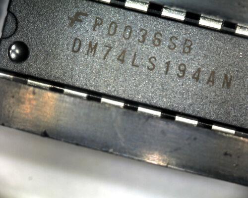 5 x DM74LS194AN Fairchild 74LS194 shift register 16 pin DIP RS 639-579