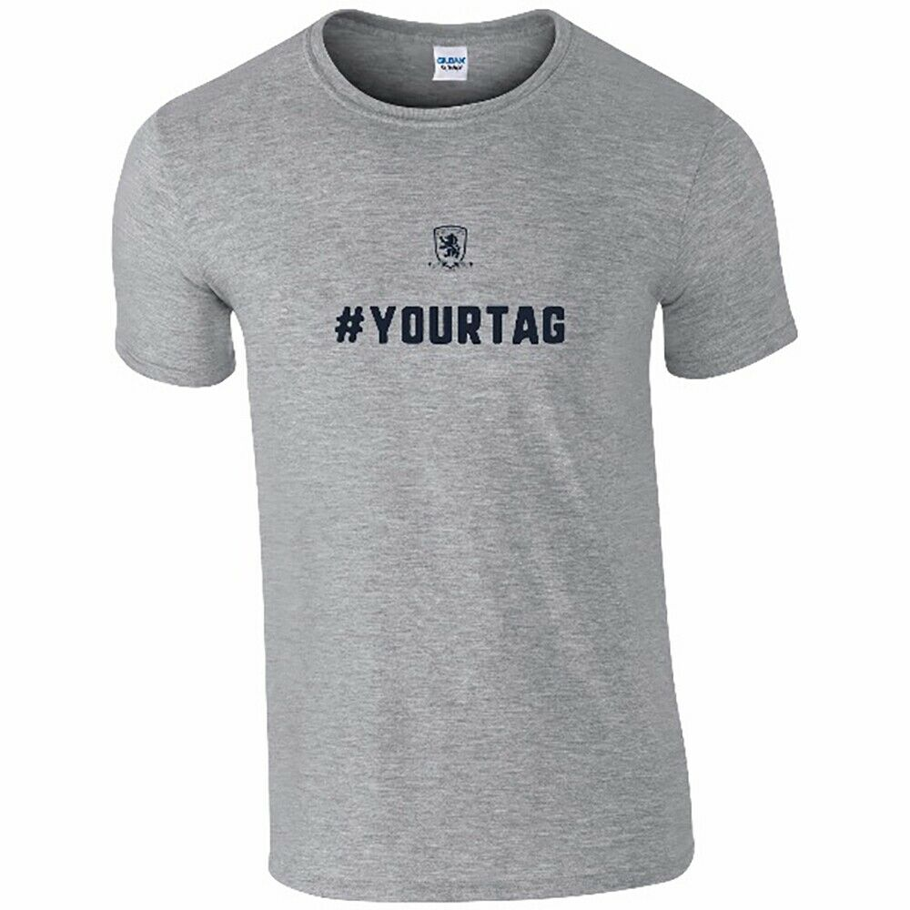 Middlesbrough F.C - Personalised Mens T-Shirt (CREST #)