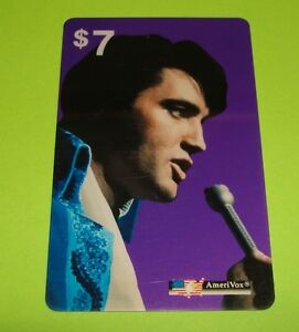 Really-Cool-1970-Las-Vegas-Photo-ELVIS-PRESLEY-7-AmeriVox-Phone-Card-from-1993