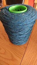 100% Lambs Wool Yarn In Blue Mix 500g Cone .4 Ply machine/hand Knit.Uk Spun.