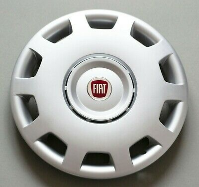 "Hub Caps Fiat... Set of 4 x 16/""  Wheel Trims // Covers Quantity 4,black/&silver"