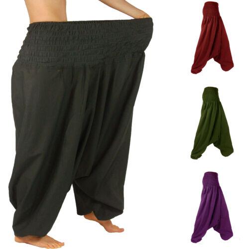 Extra Large Aladin Pantaloni Harem Pantaloni Unisex Pump Pantaloni Lagenlook circostanza Pantaloni