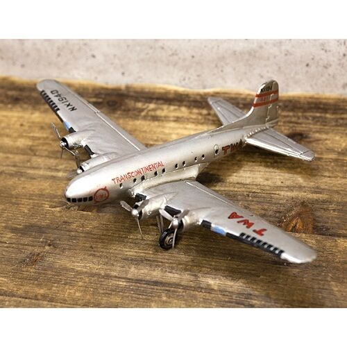 Modelo Vintage Plato De Estaño Avión Plateado Envío Gratis  F0139-2