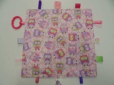 Panda taggy for pram Baby Taggy // Comforter // Blanket pink and white gift,