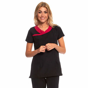 Beauty therapist uniform ladies salon tunic spa hair for Uniform spa therapist