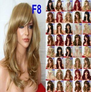 Dark-Blonde-Long-Curly-curly-Wavy-Women-Ladies-Fashion-Adult-Auburn-Ginger-Wigs