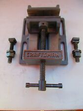 Vintage Craftsman Machinist Vise 4 14 Jaws And Extra Nuts Amp Bolts Accessories
