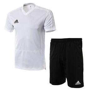 Adidas Men Condivo 18 Suit Set White GYM Soccer Jacket Pant Jersey ...