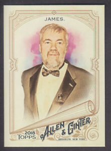 Topps-Allen-amp-Ginter-2018-Base-157-Bill-James-Writer-amp-Statistician