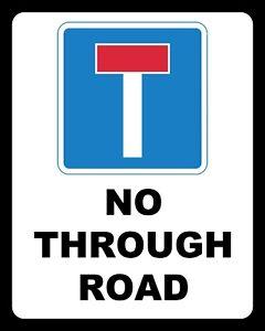 aluminum sign Dead End Road