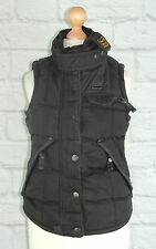 WOMENS SUPERDRY WAXED LOOK TON UP MOTORCYCLE GILET/BODYWARMER - SIZE XS UK 8