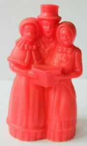 Vintage-Avon-Red-Christmas-Carollers-Festive-Garlands-Decorative-Pomander