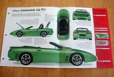 1994 CALLAWAY CAMARO C8 CONVERTIBLE UNIQUE IMP BROCHURE