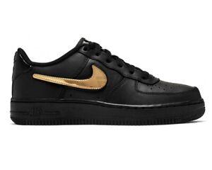 Detalhes sobre Nike Air Force 1 LV8 3 GS AR7446 001 Mädchen Turnschuhe  Schwarz Damen Schuhe