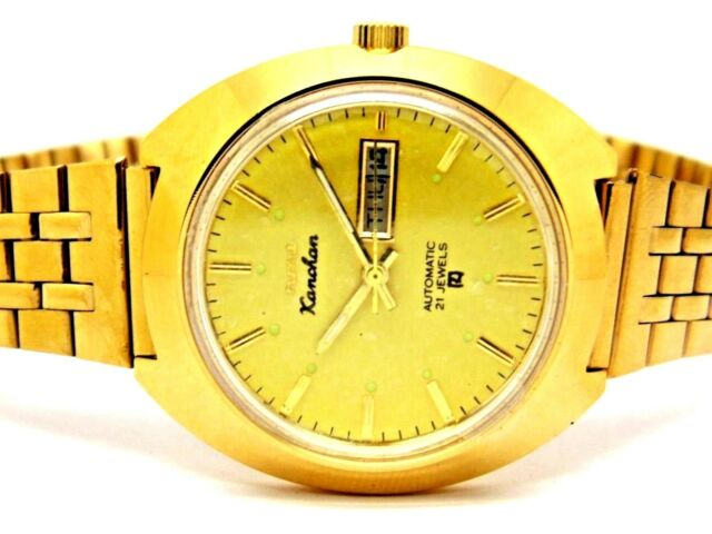 hmt genuine kanchan automatic gold plated vintage rare India watch run order