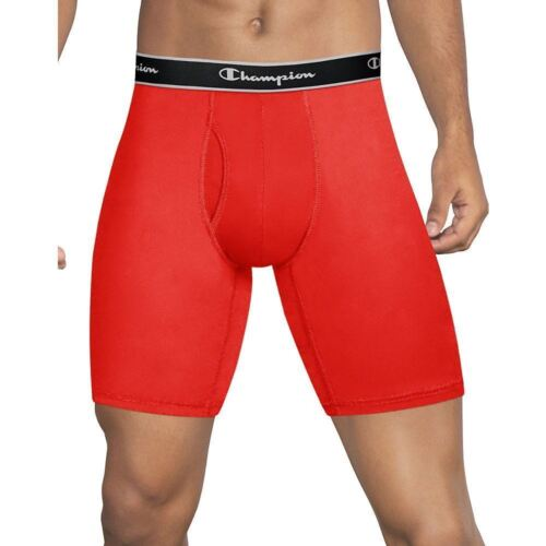 Champion Tech Performance Long Leg Boxer Briefs Red and Black