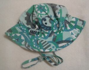 Dozer Boys Bucket Echo Green Reversible Beach Sun Hat UPF 50+ 5-9 ... a3c01ac3aae