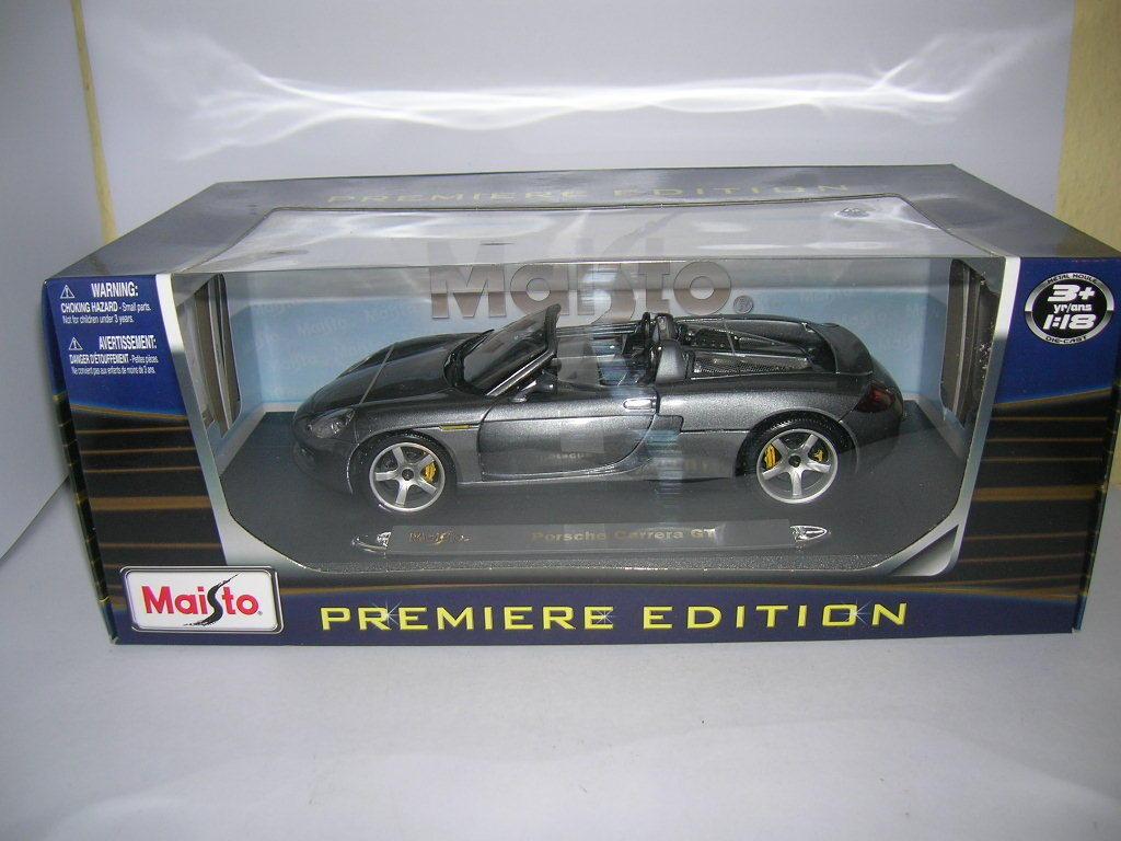 Maisto Porsche Carrera Gt argento Metálico Premier Edición, 1 18 Art.36622