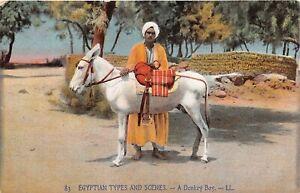 POSTCARD-EGYPT-ETHNIC-A-Donkey-Boy-LL-83