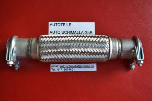 Flexrohr*Montage ohne  Schweißen+Schelle VW Polo 6N2 1,4i 44KW 60PS