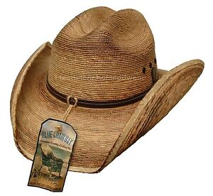 Image is loading KENNY-CHESNEY-WESTERN-COWBOY-HAT-CATTLEMAN-STRAW-LEATHER- bfc97fe287c