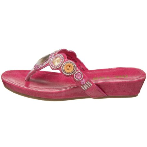 Me Too Kids Claudia Shell Pink Sandals youth Girls NEW Flip Flops Thong Fuchsia