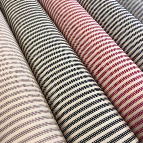 """100/% Coton Toile Classique À Rayures Coutil tissu 45/"""" M757"""