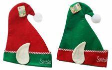 Adulte Santa Aide Elfe Chapeau Fantaisie Déguisement Noël Fête Bureau Oreilles