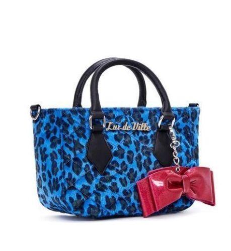 Rockabilly Leopardo De Ville Bolso Mspt44blpb Guisante Lux Mini Bolsa Azul Dulce c0aWgwwq1
