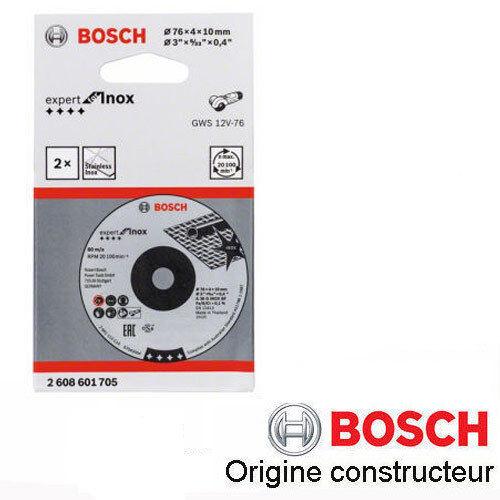 disque à ébarber l/'inox 76x10x4 mm Bosch 2608601705 LOT DE 2