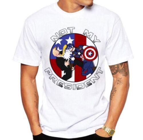Funny building block Donald Trump T Shirt Men/'s Custom Printed Tops Hipster