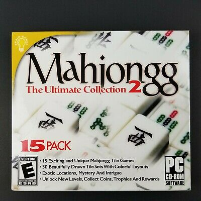 New Sealed Mahjong//Mahjongg The Ultimate Collection 2 PC-CD Rom Software Games