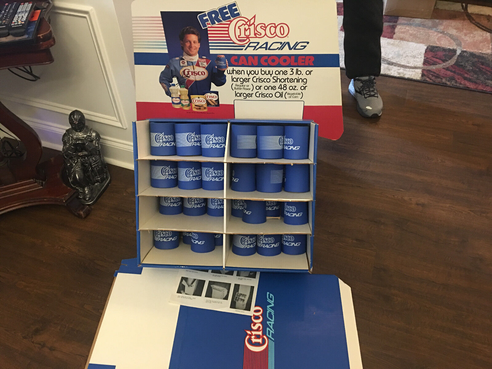 STORE DISPLAY STAND UP CRISCO NASCAR CAN COOLERS LOT LOT LOT OF 40 IN ORIGINAL BOX b133c2