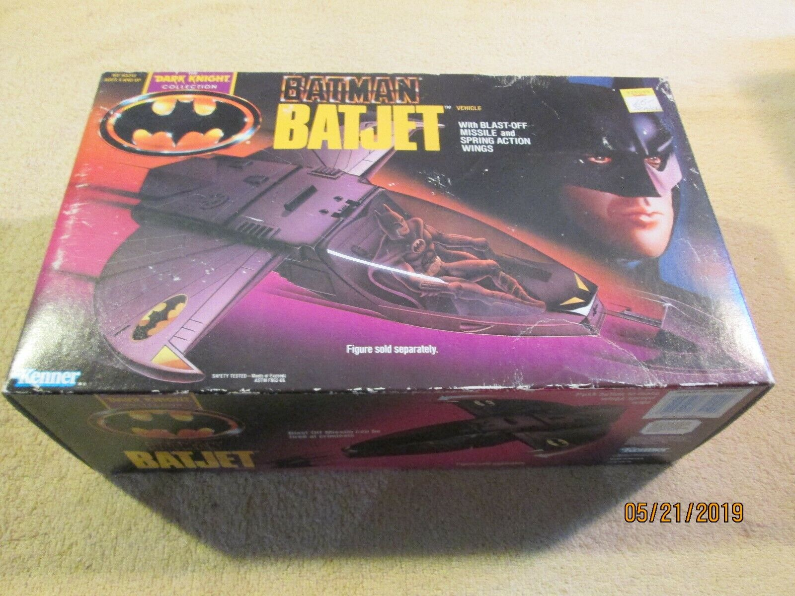 Batman DC Comics 1990 BATJET The Dark Knight 5'' Kenner