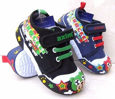BABY BOYS NAVY BLACK LEATHER INSOLES TRAINERS NURSERY TOE CAPS CANVAS PRAM SHOES
