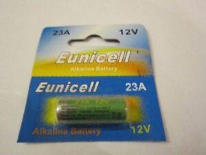 1 Pack BRAND NEW A23 / 23A / MN21 / GP23a / A23 / E23A 12v Eunicell Alkaline Bat