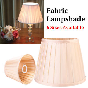 8-039-039-to-18-039-039-Champagne-Fabric-Box-Pleat-Lamp-Shade-Table-Light-Lampshade-Cover