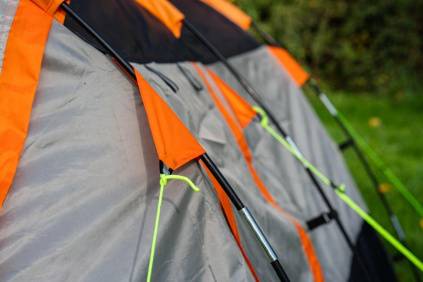 Litera Carpa Carpa Carpa familiar para fin de semana 3 & festivales-knightwick (Naranja y Negro) 6f7c84