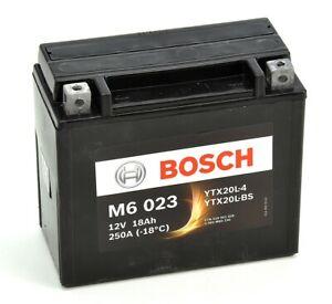 Bosch M6023 Batterie moto YTX20L-BS - 12V AGM 18A/h-250A