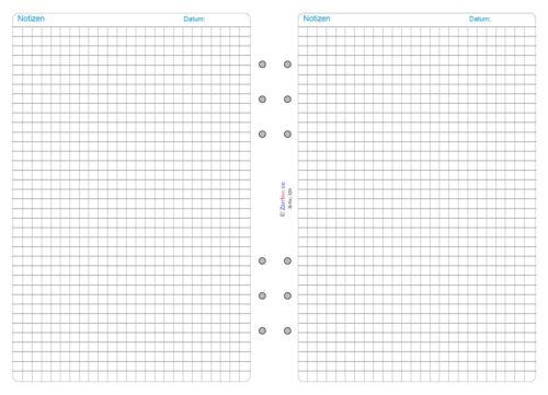 Version kariert A5,Notizpapier Edition standard ZeitIno 320-1 Für Herlitz