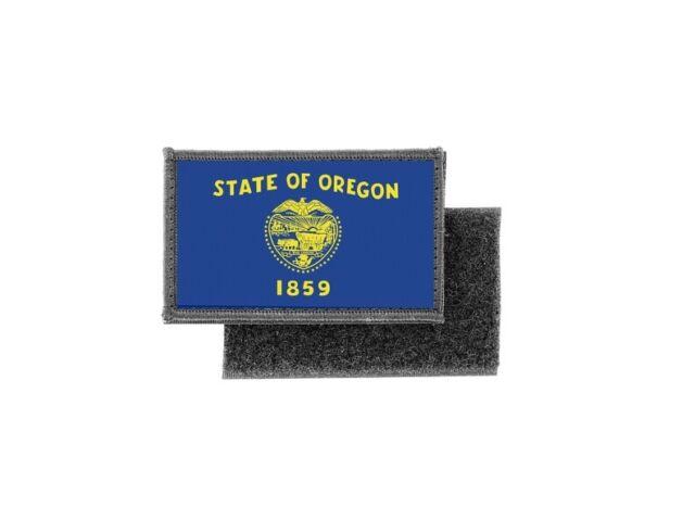 Oregon Custom Badge Flag Embroidered  Patch
