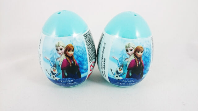 2 Eggs - Plastic Disney FROZEN Super Surprise Eggs with Candy & Toy Inside