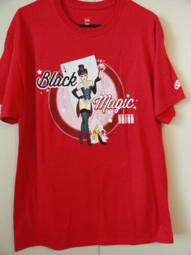 NEW S DC Bombshell Red ZATANNA  BLACK MAGIC  T-Shirt DC Comics Good Girl PinUp