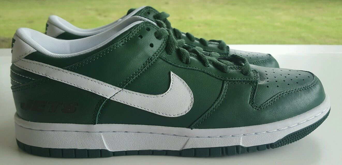 Nike Nike Nike Dunk Low id NY New York Jets NFL tamaño 8,5 535081-901 casual salvaje 1c9f06