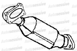 Renault Kangoo 1.5Dci K9K 64B Van 03-05 Exhaust Catalytic Converter Replace