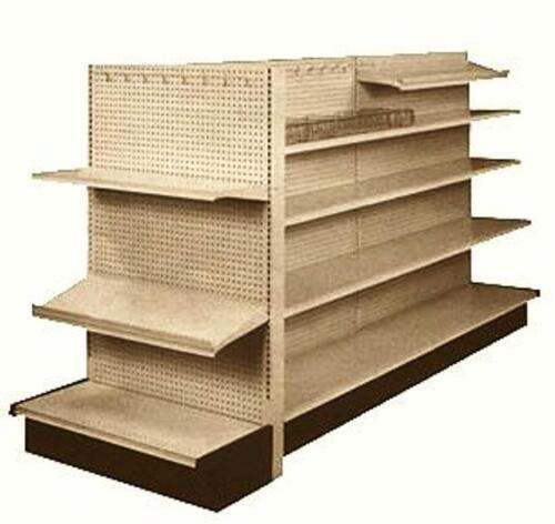GONDOLA SHELVING Used Retail Store Metal Fixtures Island Shelves Grocery Market