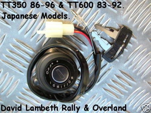 Yamaha TT350 TT600 Ignition Switch Blocchetto Chiave Zündschloß Contacteur a Cle